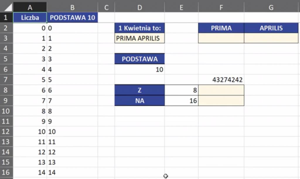 Rys. nr 2 – przykładowe dane